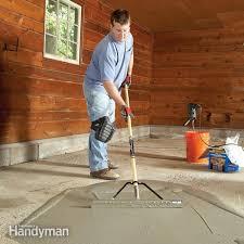 garage floor resurfacing fix a pitted garage floor family handyman