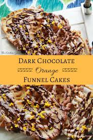 bring fair food home dark chocolate orange funnel cakes the