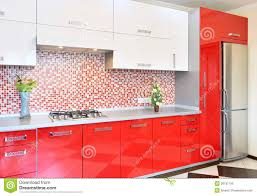 Red And White Kitchens Ideas Kitchen Red And White Royalty Free Stock Photo Image 28191195