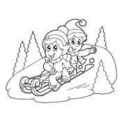 coloring page winter season 6569