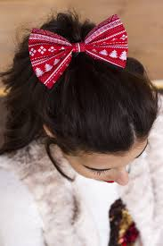 christmas hair accessories traditional christmas hair bow christmas bow in 2 sizes