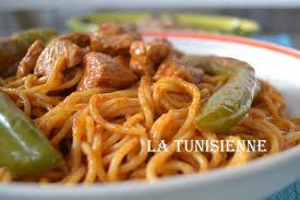 recette de cuisine tunisienne en arabe spaghetti à la tunisienne