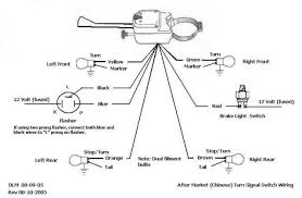 aftermarket turn signal wiring diagram brake and turn signal for