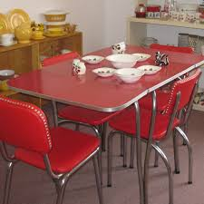 Retro Dining Room Furniture Red Kitchen Table U2013 Home Design And Decorating