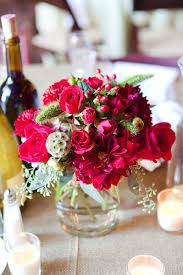 Burgundy Wedding Centerpieces by Burgundy Wedding Flowers Centerpiece Rustic Fall Wedding In