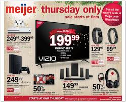 best black friday 40 in television deals 2016 meijer black friday 2016 ad leaks cheap tvs consoles wearables