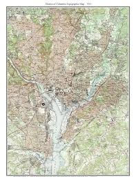 Map Dc Old Topo Maps Of Washington D C