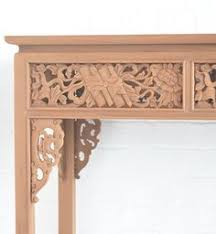 Unfinished Console Table Classic Hand Carved Mahogany Desk Unfinished Classic Desk