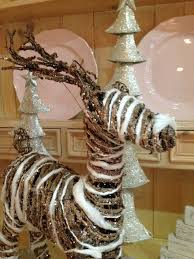 interior large wicker reindeer ornament decoration