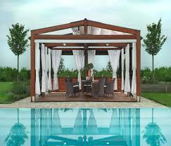 wooden deck pergola for swimming pool pergolas deck pergola and