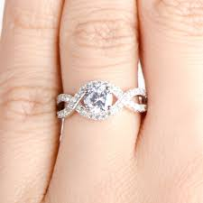 engagement ring bands cut twisted band cz engagement ring