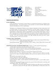 Resume For Child Care Job Brand Ambassador Job Description Resume Resume For Your Job