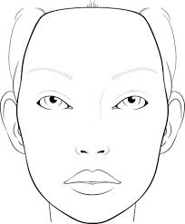 blank face chart for makeup artists vector art getty images