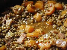 cuisiner des lentilles la cuisine de myrtille ragout de lentilles vertes du puy au