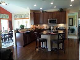 wooden kitchen flooring ideas modern island under twin branched