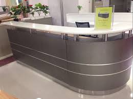 Curved Reception Desk For Sale Outstanding Office Small Hair Salon Modern White Half