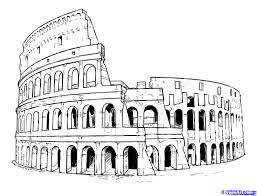 how to draw the colosseum step by step famous places landmarks