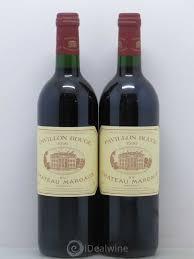 chateau margaux i will drink buy pavillon du château margaux second vin 1996 lot 9165