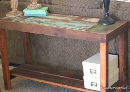 Make A Sofa by Beyond The Picket Fence Reclaimed Wood Sofa Table Tutorial