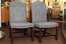 george smith armchair george smith pair grey flannel chairs elizabeth jackson consign it