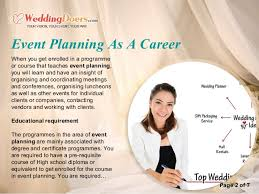 wedding planner course event planning as a career