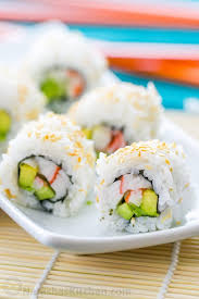 cuisine of california sushi rice and california rolls recipe