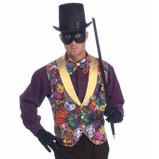 mardi gras ties mardi gras vest and bow tie accessory kit buycostumes