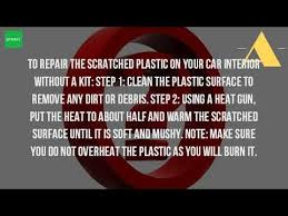 Car Interior Refurbishment Malaysia How Do You Get Scratches Out Of Plastic Car Interior Youtube