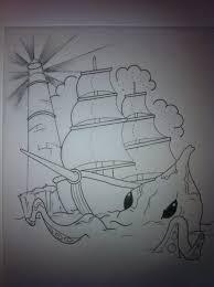 sea waves pirate ship half sleeve tattoo for men photos