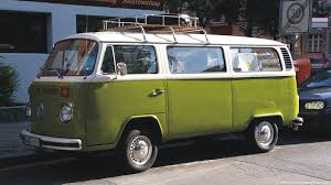 green volkswagen van sage green campervan crazy