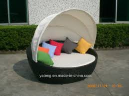 Outdoor Furniture Daybed China Patio Sunlounge With Canopy Rattan Outdoor Furniture Daybed
