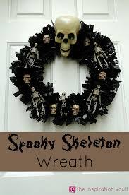Halloween Skeleton Craft by Spooky Skeleton Wreath The Inspiration Vault