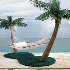 palm tree hammock stand with cooling mist sprayers u0026 coconuts