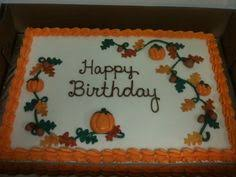 autumn themed sheet cakes google search cakes and cupcakes