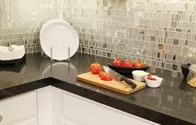 bathroom tile countertop ideas stainless steel and glass tile backsplash spanish countertops