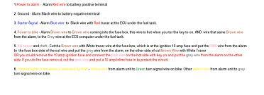 how do i install my spy 5000m remote start alarm on my 2013 ex650