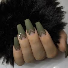 military green nails nails by philglamournails nailsonpoint