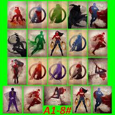 a1 8 dc superhero movie 20 pcs pvc series sticker home decor