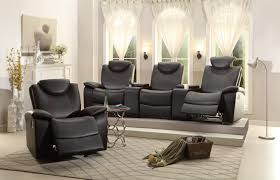home theater seating loveseat recliner homelegance talbot reclining theater seating bonded leather