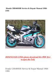 honda cbr400rr service u0026 repair manual 1988 1999 by dora tang issuu