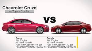 toyota yaris vs corolla comparison compare the 2014 chevrolet cruze vs toyota corolla