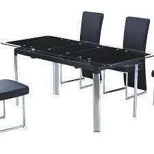table de cuisine avec rallonge table cuisine noir table a manger seule table en verre noir avec