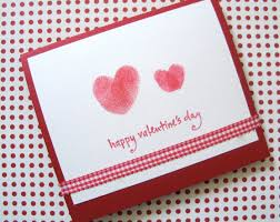 cards for s day valentines day craft series thumbprint cards all you