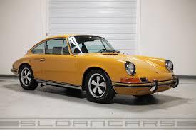 porsche 911 s 1969 for sale 1969 porsche 911s coupe bahama yellow black restored sloancars