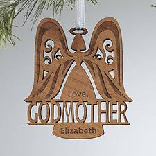 personalized ornaments godparent