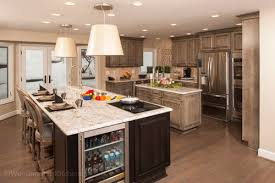 kitchen island with refrigerator design your home for entertaining woodmaster kitchens