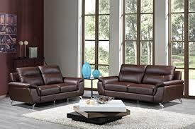 Real Leather Sofa Set by Genuine Leather Sofa Set Amazon Com