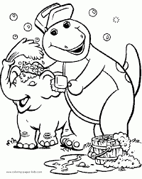 barney friends coloring pages free print 64725