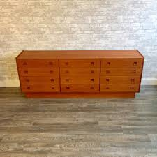 mid century changing table danish mid century teak 12 drawer dresser or change table