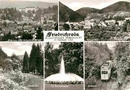 Ak Ansichtskarte Friedrichroda Blick Vom Herzogsweg Ak Ansichtskarte Friedrichroda Panorama Puschkinpark Kirche